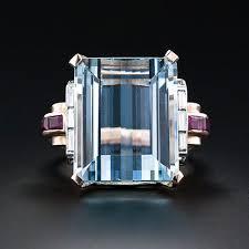 art deco aquamarine ring by van cleef arpels vintage jewelry
