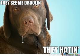 Drooling Meme - they see me droolin they hatin by suitonx meme center