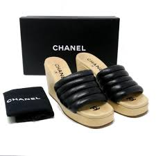chanel black limited edition with lambskin quilted leather 39 5