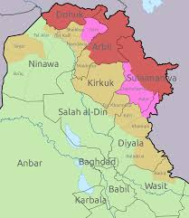 Iraq Province Map File Disputed Areas In Iraq Svg Wikimedia Commons