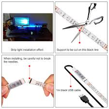 how to power led strip lights amazon com onever flexible led strip lights with usb cable for tv