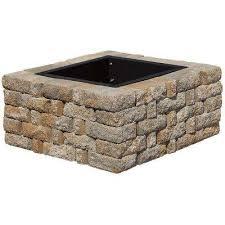 Stone Fire Pit Kits by Stone Fire Pit Kits Hardscapes The Home Depot