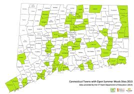 Connecticut State Map by End Hunger Connecticut