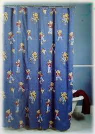 Teddy Shower Curtain Patchwork Printed Window Valance Lavender Blue Taupe Navy