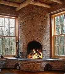 kitchen fireplace design ideas rounded opening of corner fireplace w curved hearth flowing