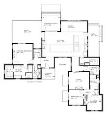 modern home floor plan one storey modern house plans homes floor plans