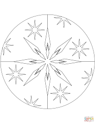 winter mandala coloring page free printable coloring pages