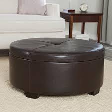 round leather tufted ottoman ottoman ottoman ikea upholstered cocktail round leather storage