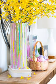 Glass Vase Decoration Ideas Painted Glass Vase For Springtime Decorating In My Own Style