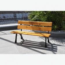 panchina in legno da esterno panca panchina verona 122 cm in ghisa e legno per arredo giardino