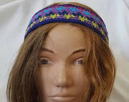 hippie headbands vintage hippie headband etsy