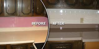 Resurface Kitchen Countertops by Kitchen Counters U0026 Backsplash Metro East Reglazing Custom