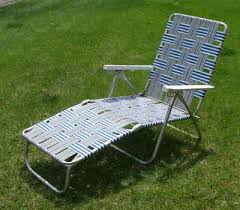 Vintage Lawn Chairs Aluminum Never Used Vintage Aluminum Webbed Chaise Lounge Chair Lawn Patio