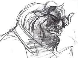 435 beastrightbeast beauty u0026 the beast large disney cel drawing
