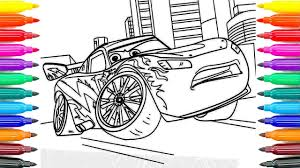 paint cars 3 lightning mcqueen learning coloring pages