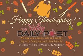 happy thanksgiving valley daily post