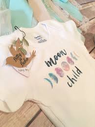 moon onesie unique baby gift hippie baby clothes baby shower