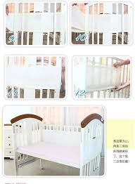 baby bed breathable mesh crib bumpers baby bedding 3 layer blue