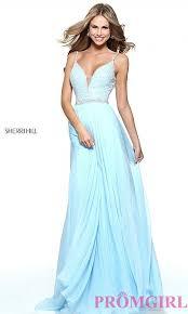 v back jeweled bodice sherri hill prom dress promgirl