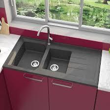 evier de cuisine à poser evier cuisine à poser avec deux cuves en résine de synthèse batiproduits