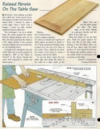 Make Raised Panel Cabinet Doors by Raised Panels On Table Saw U2022 Woodarchivist