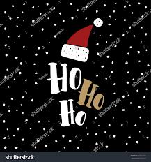 Black Card Invitation Funny Christmas Greeting Card Invitation Hand Stock Vector
