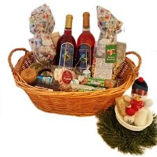 wine basket sweet wine gift basket award winning wine from presque isle wine