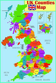 counties map laminated educational wall poster uk counties map gb great
