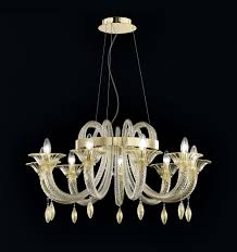 Interior Simple Glass Tube Froze Chandelier With Gold Shade Fileove