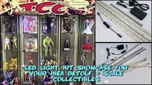 ikea detolf led light kit showcase youtube