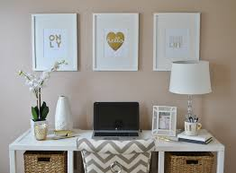 white and gold office desk gold white office lots of lovely