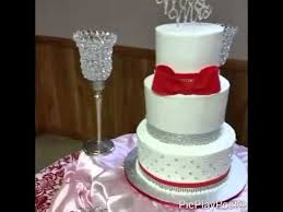red white and bling wedding cake youtube