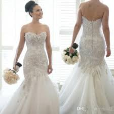wedding dress with bling bling tulle mermaid wedding dresses backless dropped