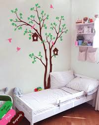 Tree Wall Decor For Nursery Tree Wall Decal Birdhouse Sticker Removable Nursery Decor Mural