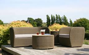 Garden Patio Table Furniture Modern Garden Furniture With Brown Rattan Sofa Sets