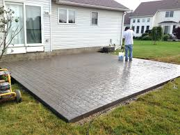 Cement Designs Patio Sted Patio Concrete Cost Ontario Cement Designs Colorado
