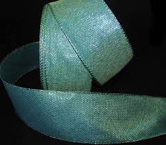 mermaid ribbon 5 yds peacock blue green teal mermaid iridescent wired ribbon 2 1
