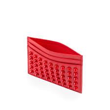 golden chain louboutin spikes card holder money