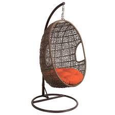 hanover outdoor rattan wicker hanging egg shaped swing pcrichard