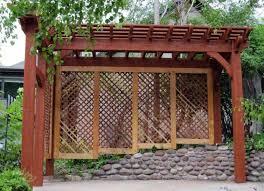 garden timber pergola with privacy screen outdoor garden timber