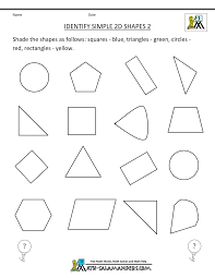 free printable geometry worksheets identify simple 2d shapes 2