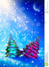 art christmas tree on blue night background royalty free stock