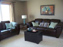 Brown Leather Couch Interior Design Ideas Dark Gray Sofa For Small Space Living Room Furniture Interior