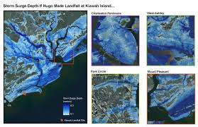 Charleston Sc Map Hurricane Hugo September 21 22 1989