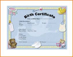 birth certificate template art resume examples