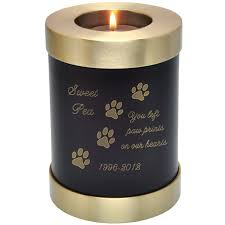 dog urns pet memorial candle holder dog urn espresso