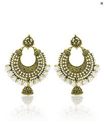 new jhumka earrings golden pearl hoop bali with jhumka earring at rs 299