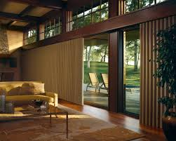 Solar Shades For Patio Doors by Interior Glass Door With Cream Roll Up Shade Combined With Cream