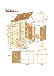 Do It Yourself Floor Plans by How To Make An Outdoor Garbage Can Shed Woodworking And Doors