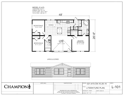 champion manufactured homes floor plans exdn 8502 don u0027s mobile homes